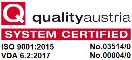 SKA Tech Quality Austria System Certified ISO VDA